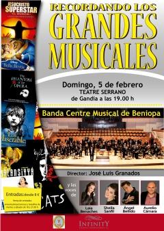 Cartel Grandes Musicales CAS